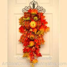 autumn teardrop swag cornercrafters fall wreaths