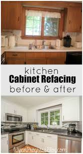 Refinishing White Kitchen Cabinets Best 25 Refacing Kitchen Cabinets Ideas On Pinterest Reface