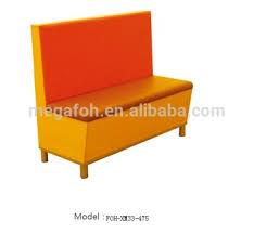 Modern Restaurant Furniture Supply by New Design Orange Seating Restaurant Bench Booth Furniture Foh