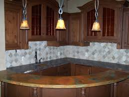 Copper Kitchen Countertops Kitchen Traditional Backsplash Kitchen Feature Curved Copper Bar