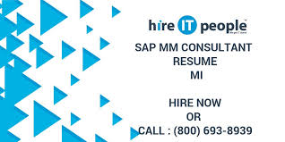 Sample Resume For Sap Mm Consultant Sap Mm Consultant Resume Mi Hire It People We Get It Done