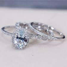 Aquamarine Wedding Rings by Shop Aquamarine Wedding Ring Set On Wanelo