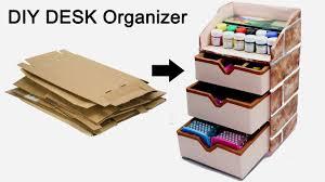 Fun Desk Organizers by How To Make A Stationary Diy Desk Organizer Using Cardboard By