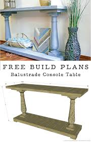 build your own table how to build a diy balustrade console table