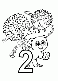number 2 coloring pages for preschoolers counting numbers