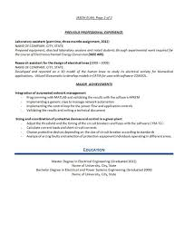 Achievements Resume Examples by Electrical Engineer Resume Example