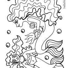 group young mermaids swimming coloring pages hellokids