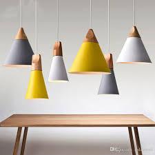 Wood Pendant Light Modern Wood Pendant Lights Laras Colorful Aluminum L Shade