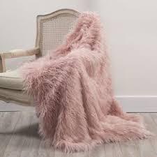 light pink fur blanket luxe mink faux fur throw blanket color light pink size 84 x 58
