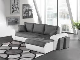 canap d angle convertible blanc canapé d angle convertible contemporain en tissu anthracite pu blanc
