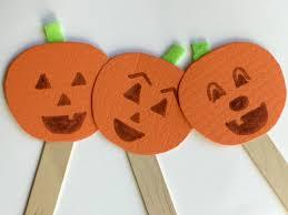 kids u0027 halloween pumpkin puppet craft
