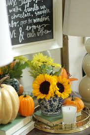 Sunflower Home Decor by Fall Home Tour Part 1 Style Your Senses