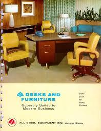 desk u0026 furniture vintage allsteel catalog throwback