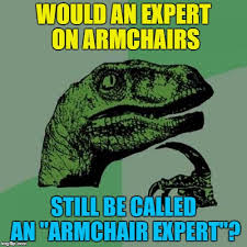 armchair expert seeing as how armchair expert is a negative thing imgflip