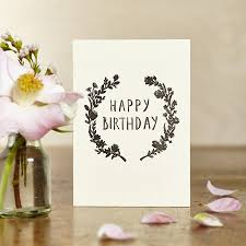 floral birthday card by katie leamon notonthehighstreet com