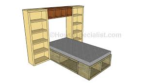 bed hutch plans howtospecialist how to build step by step diy
