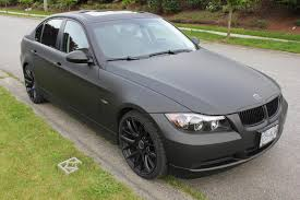 matte black bmw 328i blacked out bmw murdered cars