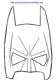 Masques  Masque de Batman à colorier