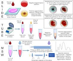 blood typing using microstructured waveguide smart cuvette