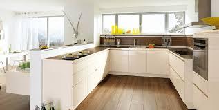 cuisine blanc et noyer cuisine brique blanche