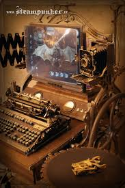 steampunk office decor home design ideas