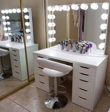 ikea makeup vanity major vanitygoals this jaw dropping setup by guisellx3 features