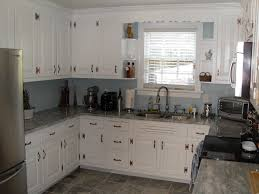 White Cabinets Granite Countertops Kitchen Antique White Cabinets With Grey Walls Kutsko Kitchen Also