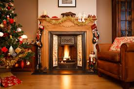 living room stunning fireplace christmas decorations on