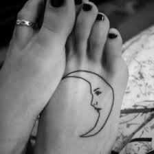 crescent tattoo design on foot foot tattoos words infected foot