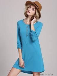 5w6qwq ocean blue textured long sleeve casual dress casual dresses