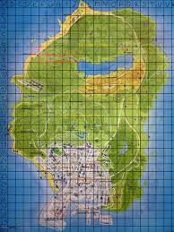 Map Grid What Is Your Favourite Place In Gta V Map With Grid