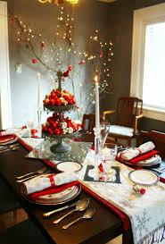 interior immaculate christmas table arrangements with white and