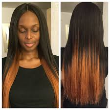 ombre crochet hairstyles invisible part crochet braids with bijoux xpression hair crochet