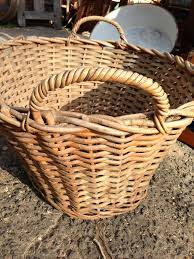 Cane Laundry Hamper by Vintage Australian Wicker Laundry Hamper Toy Basket The Antique