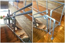 Cable Banister Cable Railing System On Kee Klamp Pipe Railing Simplified Building