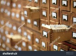 Library Catalog Cabinet Database Concept Vintage Cabinet Library Card Stock Photo 83766358
