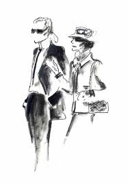 an imaginary meeting between coco chanel and karl lagerfeld