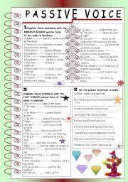 esl worksheets for adults passive voice present simple u0026 past