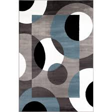 Area Rug 9 X 12 Modern Circles Blue 9 Ft X 12 Ft Area Rug 100 Blue 9x12 The