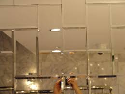 mirrored glass tiles for backsplash cabinet hardware room