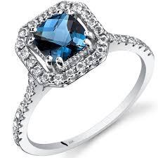 london blue topaz engagement ring london blue topaz ring 14k white gold cushion r62402 peora