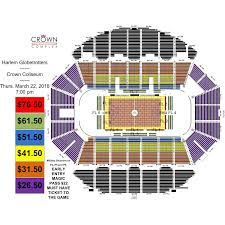Pepsi Center Seating Map Harlem Globetrotters Crown Complex
