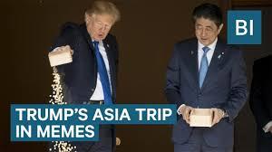 Trip Meme - trump s asia trip in memes youtube
