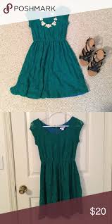 euc green lace dress
