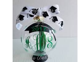 personalized graduation ornament graduation gown etsy