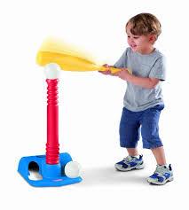 little tikes tots t ball baseball bat 2 balls u0026 stand toddler kids