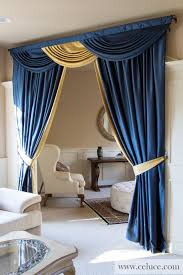 bright blue valance curtain 87 navy blue valance curtains blue and gold classic jpg