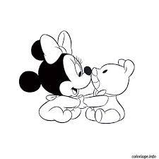 Coloriage Minnie Baby dessin