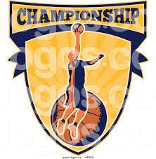 royalty free clip art vector logo of a basketball player athlete