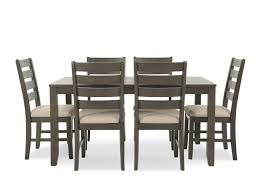 ashley dining room sets ashley rokane brown rectangle seven piece dining set mathis